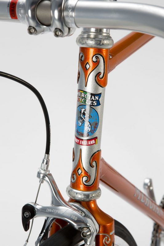 Vincitore spearpoint head lugs, Orange Pearl and Silver Pearl