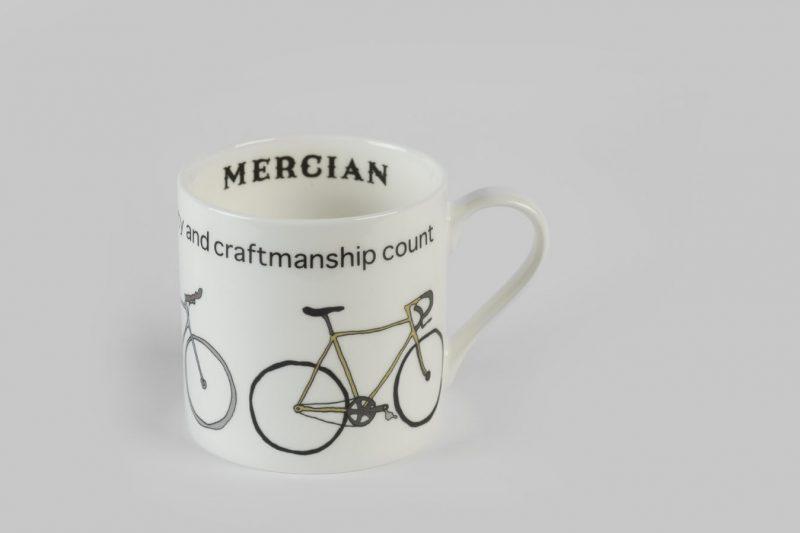 Mercian 3 Bike Bone China Mug